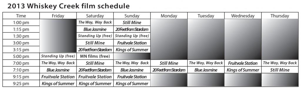 2013 Festival Schedule